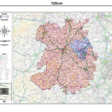 Shropshire County Boundary Map - Dimensions