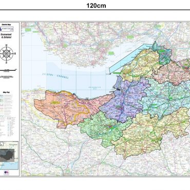 Somerset and Bristol County Boundary Map - Dimensions
