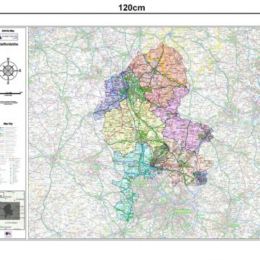 Staffordshire County Boundary Map - Dimensions