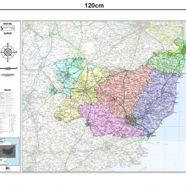 Suffolk County Boundary Map - Dimensions