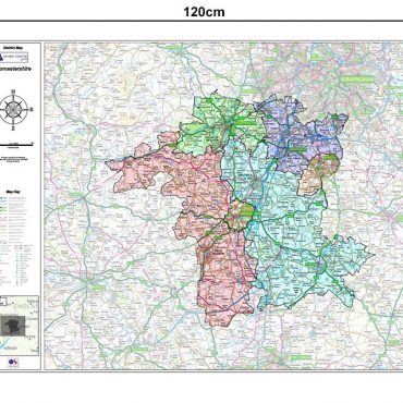 Wiltshire County Boundary Map - Dimensions