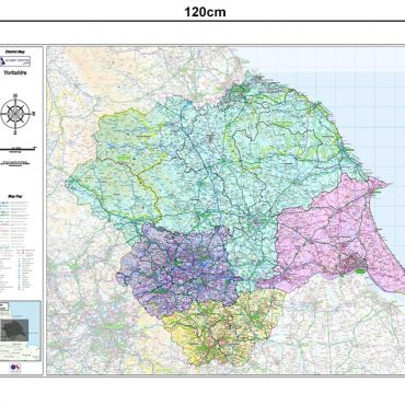 Yorkshire Counties Boundary Map - Dimensions