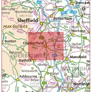 Postcode City Sector Chesterfield - Coverage