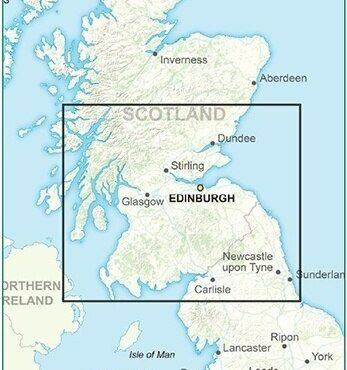 Road Map 3 - Southern Scotland and Northumberland - Colour - Coverage