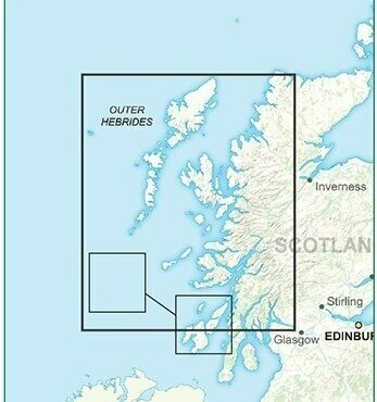 Road Map 2 - Western Scotland and the Western Isles - Colour - Coverage