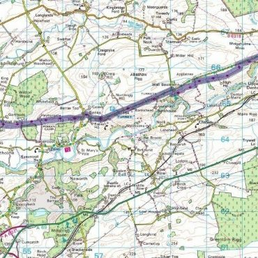 Hadrian's Wall Route Map - Detail