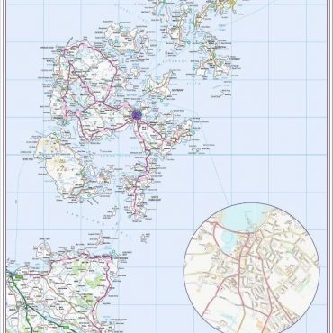 Orkney Islands Map - Overview