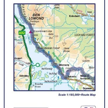 West Highland Way Compact Route Map - Cover & Detail