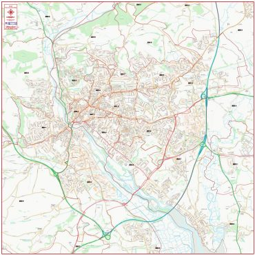 Exeter Postcode Street Map - Overview