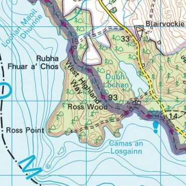 West Highland Way Route Map - Detail