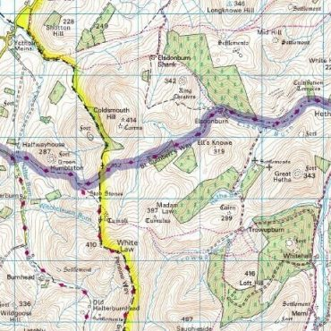 St Cuthberts Way Route Map - Detail