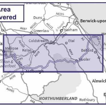 St Cuthberts Way Route Map - Coverage