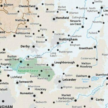 Relief Map 7 - Full UK - Detail