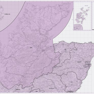 Admin Boundary Map 1 - North Scotland, Orkney & Shetland - Overview