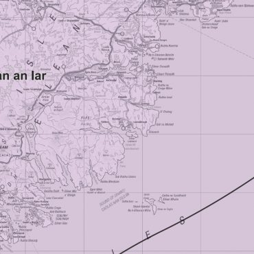 Admin Boundary Map 2 - Western Scotland & The Western Isles - Detail