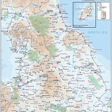 Relief Map 3 - Northern England - Colour - Overview