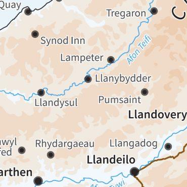 Relief Map 5 - Wales - Colour - Detail
