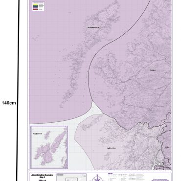 Admin Boundary Map 2 - Western Scotland & The Western Isles - Dimensions