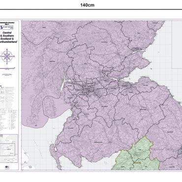 Admin Boundary Map 3 - Southern Scotland & Northumberland - Dimensions