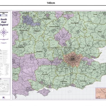 Admin Boundary Map 8 - South East England - Dimensions