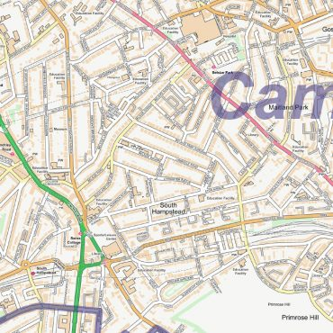 City Street Map - Central London - Detail