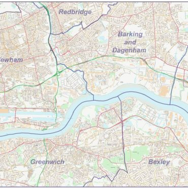 City Street Map - East London - Overview