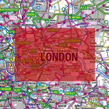 City Street Map - East London - Coverage