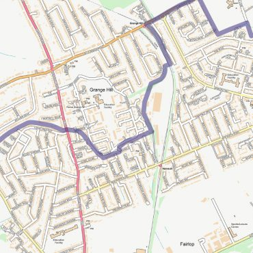 City Street Map - North East London - Detail