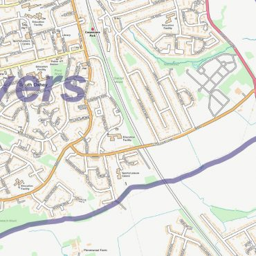 City Street Map - North West London - Detail