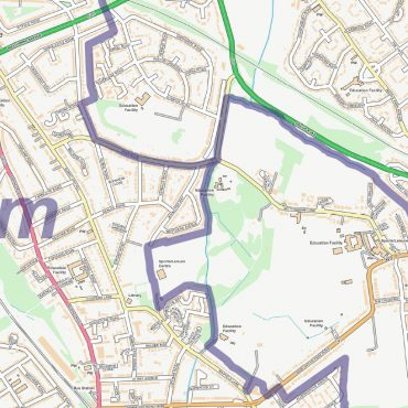 City Street Map - South East London - Detail