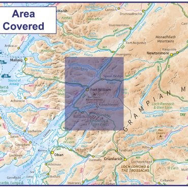 Ben Nevis - 1:50000 Scale Map Coverage