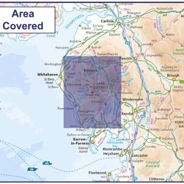 Scafell Pike Walking Map - 1:50000 scale - Coverage Map