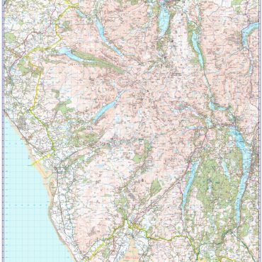 Scafell Pike Walking Map - 1:50000 scale - Map Overview