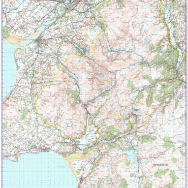 Snowdon / Yr Wyddfa Walking Map - 1:50000 Scale - Map Overview