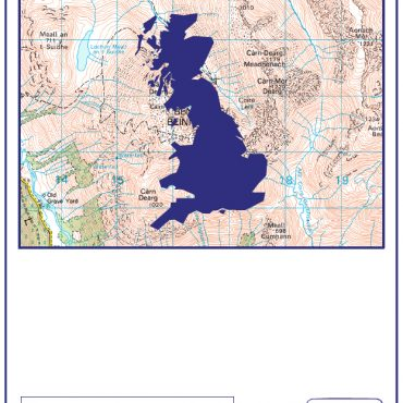 Three Peaks - Folded Map Cover