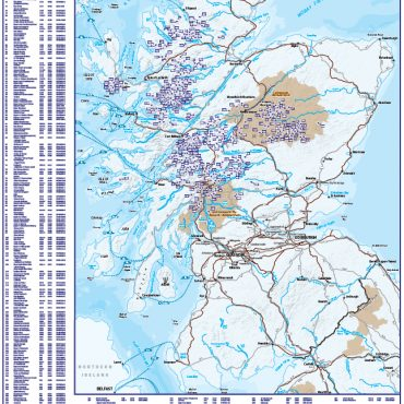 Munro Wall Chart Map - Overview Image